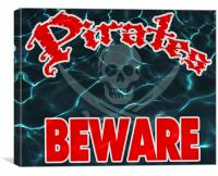 Pirates! Beware!, Canvas Print