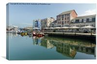 Plymouth The Barbican, Canvas Print