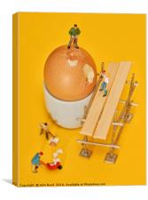 Going to work on an egg, Canvas Print