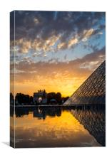 Louvre Sunset, Canvas Print