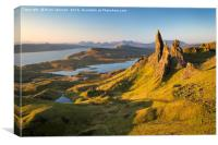 Dawn over Old Man of Storr , Canvas Print