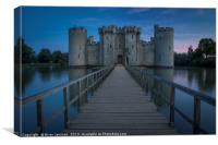 Bodiam Castle , Canvas Print