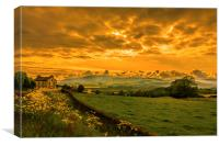 Cumbrian Skies., Canvas Print