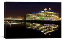 BBC Scotland Studios at night, Canvas Print