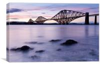 Forth Rail Bridge at dusk, Canvas Print