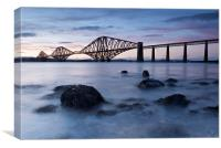 Forth bridge at dusk, Canvas Print