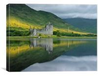 Kilchurn castle at Sunrise, Canvas Print