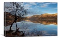 Calm on Loch Lomond, Canvas Print