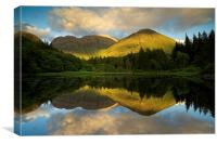 The last of the light in Glencoe, Canvas Print