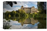 Solesmes Abbey, Canvas Print