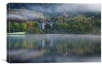Loch Achray morning mist, Canvas Print