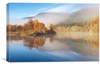 Autumn Mist in the Tummel Valley, Canvas Print
