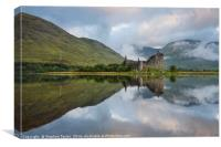 Kilchurn castle and Loch Awe, Canvas Print