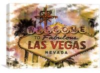 Welcome to Las Vegas, Canvas Print