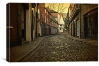 Elm Hill Norwich , Canvas Print