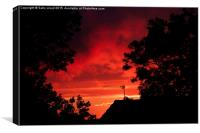 Flaming June Sunset, Canvas Print