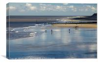 Cromer Beach People, Canvas Print