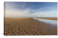 Into the distance at Holkham Norfolk , Canvas Print
