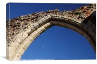 The moon at St Benet's Norfolk, Canvas Print