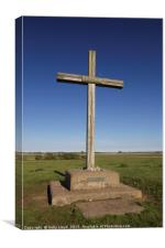Cross of Peace at St Benet's Abbey, Norfolk, Canvas Print