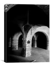 Hall of arches, Canvas Print