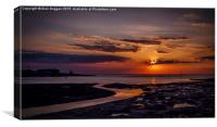 Knott End Sunset, Canvas Print