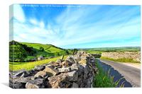 Yorskshire Dales on a beautiful sunny day, Canvas Print