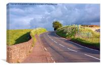 Beautiful Scottish road in the countryside, Canvas Print