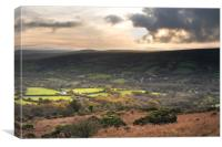 Widecombe in the Moor, Canvas Print