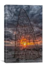 Bamboo Tower at sunset, Canvas Print