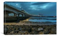 Second Severn Crossing, Avon, Canvas Print