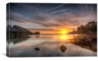 Mackerel Skies, Canvas Print