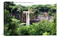 CHAMAREL WATERFALL MAURITIUS, Canvas Print