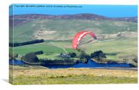PARAGLIDING OFF SNAEFEL, Canvas Print