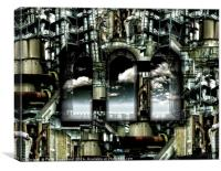 Factory Effect, Canvas Print