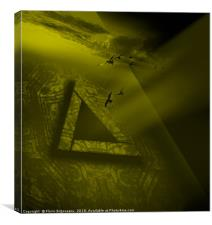 Triangular Yellow, Canvas Print