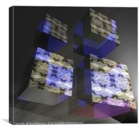 Asynchronous Cubes, Canvas Print