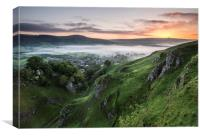 Cave Dale Sunrise, Canvas Print