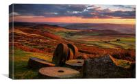 Sunset Colours over the Millstones, Canvas Print