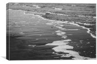 Black and White Waves, Canvas Print