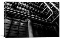 Industrial Pipes, Canvas Print