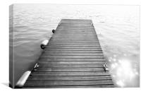 Black and White Dock, Canvas Print