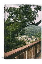 Tree Over Classical Railing, Canvas Print