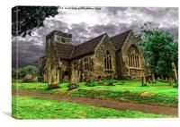 A Beautiful British Church , Canvas Print