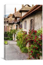 A Traditional French Corner, Canvas Print