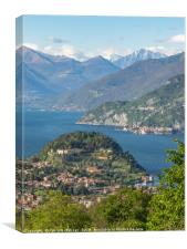 A beautiful Landscape view of Lake Como from Bella, Canvas Print