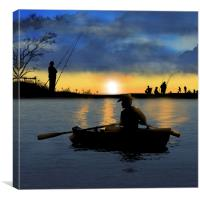 At The Weekend, Canvas Print