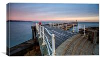 Whitby Pier in the summer, Canvas Print