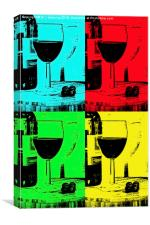 Grapes to bottle to glass, Canvas Print