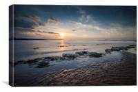 Kilve Beach at Sunset, Canvas Print